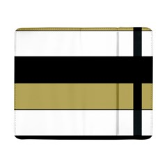 Black Brown Gold White Horizontal Stripes Elegant 8000 Sv Festive Stripe Samsung Galaxy Tab Pro 8.4  Flip Case by yoursparklingshop
