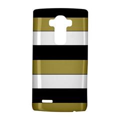 Black Brown Gold White Horizontal Stripes Elegant 8000 Sv Festive Stripe Lg G4 Hardshell Case by yoursparklingshop
