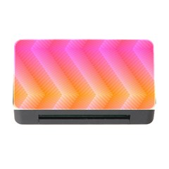 Pattern Background Pink Orange Memory Card Reader with CF by Zeze