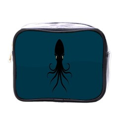 Black Octopus Mini Toiletries Bags by AnjaniArt