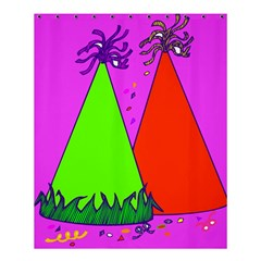 Birthday Hat Party Shower Curtain 60  X 72  (medium)  by AnjaniArt