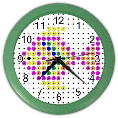 Colored Fish Color Wall Clocks by AnjaniArt