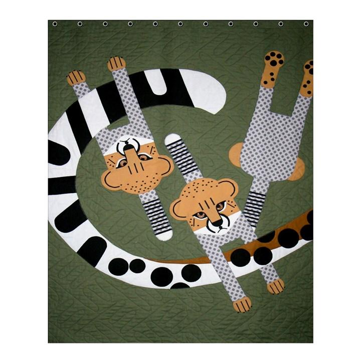 Chetah Animals Shower Curtain 60  x 72  (Medium)