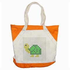 Colored Turtle Accent Tote Bag by AnjaniArt