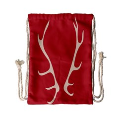 Deer Antlers Drawstring Bag (small) by AnjaniArt