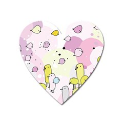 Cut Bird Heart Magnet