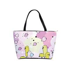 Cut Bird Shoulder Handbags by AnjaniArt