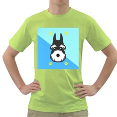Face Dog Green T Shirt