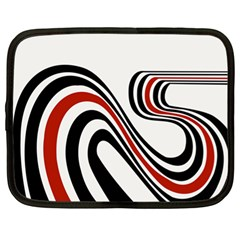 Curving, White Background Netbook Case (xl)  by AnjaniArt