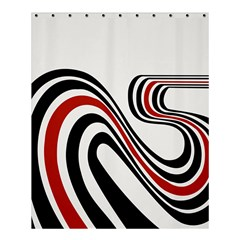 Curving, White Background Shower Curtain 60  X 72  (medium)