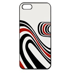Curving, White Background Apple Iphone 5 Seamless Case (black) by AnjaniArt
