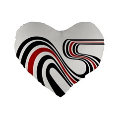 Curving, White Background Standard 16  Premium Flano Heart Shape Cushions by AnjaniArt