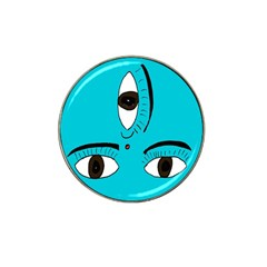 Eyes Three Blue Hat Clip Ball Marker (10 Pack) by AnjaniArt