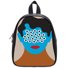 Face Eye Human School Bags (small)  by AnjaniArt