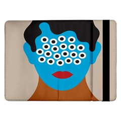 Face Eye Human Samsung Galaxy Tab Pro 12.2  Flip Case by AnjaniArt