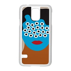 Face Eye Human Samsung Galaxy S5 Case (white) by AnjaniArt