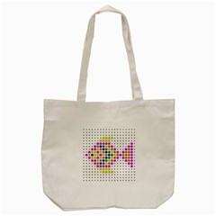 Fish Cute Tote Bag (cream)