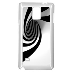 Hole Black White Samsung Galaxy Note 4 Case (white) by AnjaniArt