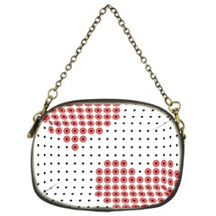 Heart Love Valentine Day Pink Chain Purses (one Side)