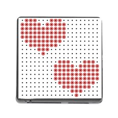 Heart Love Valentine Day Pink Memory Card Reader (square) by AnjaniArt