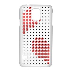 Heart Love Valentine Day Pink Samsung Galaxy S5 Case (white) by AnjaniArt