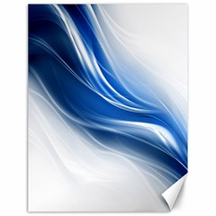 Light Waves Blue Canvas 18  X 24   by AnjaniArt