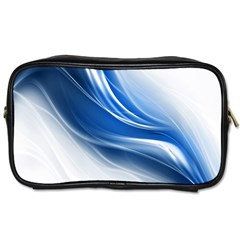 Light Waves Blue Toiletries Bags by AnjaniArt