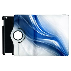 Light Waves Blue Apple Ipad 2 Flip 360 Case by AnjaniArt