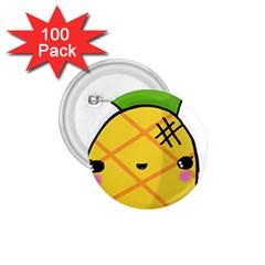 Kawaii Pineapple 1 75  Buttons (100 Pack)  by CuteKawaii1982
