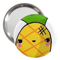 Kawaii Pineapple 3  Handbag Mirrors by CuteKawaii1982