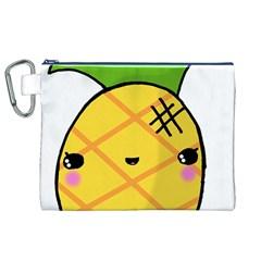 Kawaii Pineapple Canvas Cosmetic Bag (xl) by CuteKawaii1982