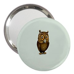 Owl 3  Handbag Mirrors by AnjaniArt