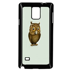 Owl Samsung Galaxy Note 4 Case (Black) by AnjaniArt