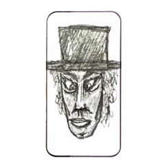 Man With Hat Head Pencil Drawing Illustration Apple Iphone 4/4s Seamless Case (black) by dflcprints