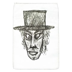 Man With Hat Head Pencil Drawing Illustration Flap Covers (s)  by dflcprints