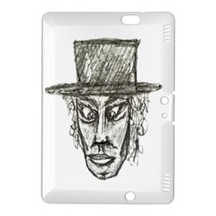 Man With Hat Head Pencil Drawing Illustration Kindle Fire Hdx 8 9  Hardshell Case by dflcprints