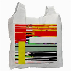 Lines And Squares  Recycle Bag (one Side) by Valentinaart