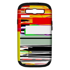 Lines And Squares  Samsung Galaxy S Iii Hardshell Case (pc+silicone)
