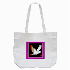 Bird Tote Bag (white) by Valentinaart