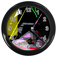 War Wall Clocks (black) by Valentinaart