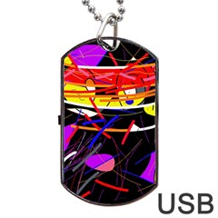 Revolution Dog Tag Usb Flash (one Side) by Valentinaart
