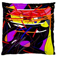 Revolution Large Flano Cushion Case (two Sides) by Valentinaart