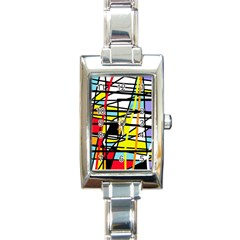 Casual Abstraction Rectangle Italian Charm Watch by Valentinaart