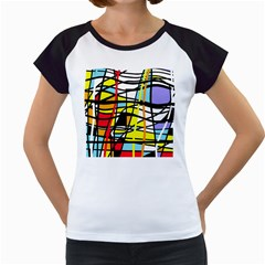 Casual Abstraction Women s Cap Sleeve T by Valentinaart