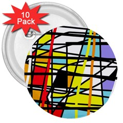Casual Abstraction 3  Buttons (10 Pack)  by Valentinaart