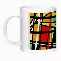 Casual Abstraction Night Luminous Mugs by Valentinaart