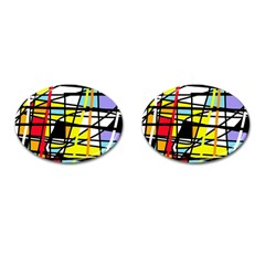 Casual Abstraction Cufflinks (oval) by Valentinaart