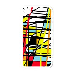 Casual Abstraction Apple Iphone 4 Case (white) by Valentinaart