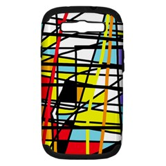 Casual Abstraction Samsung Galaxy S Iii Hardshell Case (pc+silicone) by Valentinaart