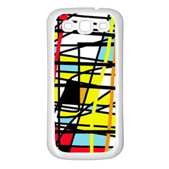 Casual Abstraction Samsung Galaxy S3 Back Case (white) by Valentinaart